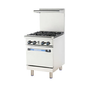 Turbo Air Tar 4 Radiance 24 Nat Gas Restaurant Range W Standard Oven