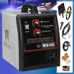 Mig 140 Wire feed Mig Welder 115v Welding Machine With Free Gloves
