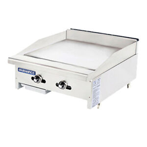 Turbo Air Tatg 24 Radiance 24 Wide Gas Countertop Griddle