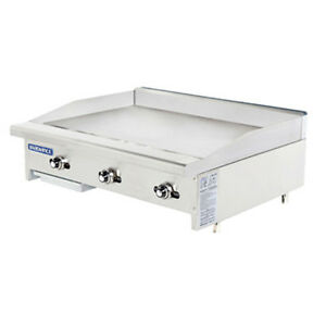 Turbo Air Tatg 36 Radiance 36 Wide Gas Countertop Griddle