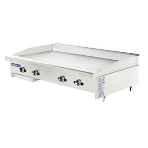 Turbo Air Tatg 48 Radiance 48 Wide Gas Countertop Griddle