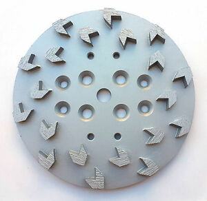 New 10 Concrete Grinding Head For Edco mk blastrac husq Grinders 20 Arrow Segs