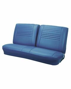 1967 Chevelle Coupe Front Rear Blue Bench Seat Upholstery In Stock By Tmi