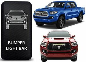 Ch4x4 Blue Led Bumper Light Bar Rocker Switch For 2016 2017 Toyota Tacoma New