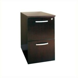 Mayline Napoli 2 Drawer File Pedestal In Mahogany