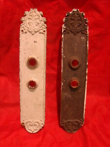 Set Of 2 Antique Huge Brass 13 5 Victorian Entry Door Back Plates