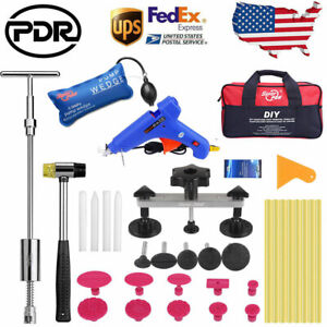 Pdr Tools Paintless Dent Removal Hammer Hail Repair Puller Bridge Pump Wedge Kit