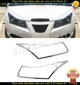 Chrome Abs Headlight Cover For Chevrolet Cruze 2010 2014