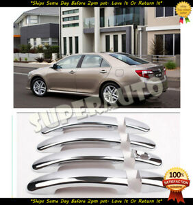 Chrome Door Handle Covers For 2012 2013 2014 2015 2016 2017 Toyota Camry No Pskh
