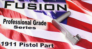 1911 Stainless Slide Stop 45 acp Brushed Polished - by Fusion Firearms