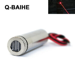 Red Laser 650nm 10mw Line Diode Module With Driver Cable 12 X 40mm Adjusted