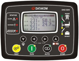 Datakom Dkg 329 2g Dual Generator mains Automatic Transfer Switch Control Panel