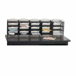 Safco Products Onyx Mail Sorter In Black