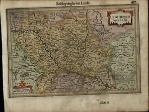 South Belgium Leodiensis Dioecesis Dinant Maestricht 1630 Mercator Minor Old Map