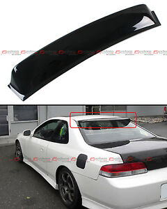 For 1997 2001 5th Gen Honda Prelude Jdm Blk Rear Window Roof Visor Aero Spoiler