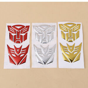 1pair 3d Autobot Transformers Decepticon Decal Car Sticker Motorcycle Decor Pvc