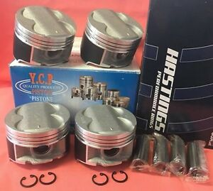 Ycp B16 B18 B20 84mm Full Floating High Comp Pistons Racing Rings Honda Acura