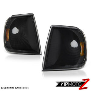Left Right 1997 2003 Ford F150 Black Parking Signal Bumper Corner Lights Lamps