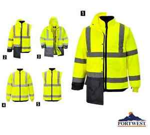 Hi Vis Executive 5 Jackets In 1 Ansi Fall Winter Waterproof M 3xl Portwest Us768