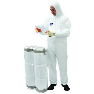 Portwest Coverall Pp pe 65g 50pc Ppe Protective Wear Safety Boiler Suit Ansi 101