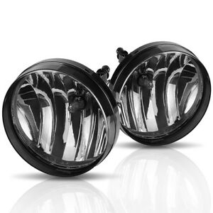 For 2007 2013 Gmc Sierra 1500 2500 Hd Smoke Bumper Fog Light Lamps W Bulbs Pair