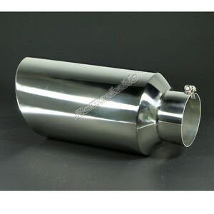5 Inlet 8 Outlet 18 Long Stainless Steel Rolled Edge Diesel Exhaust Tip