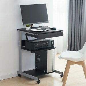 Laptop Computer Table Tray Desk Compact Student Bedside Table Furniture Black