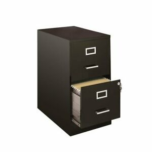 Hirsh Soho 2 Drawer File Cabinet In Black