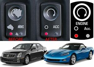 Replacement Ignition Start Button Sticker For 2005 2013 Corvette New Free Ship