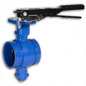 Grooved End Butterfly Valve 6 200 Cwp Ductile Iron Buna Disc Lever New 069whh