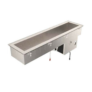Vollrath 36652 2 Pan Refrigerated Drop in Short Sided Cold Food Well 8 d Well