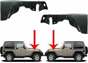 Replacement Lh Rh Front Fenders For 1997 2006 Jeep Wrangler New Free Shipping