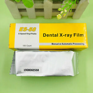 100pcs Dental X ray Film Intraoral Periapical E speed Es 58 Adult Size 2