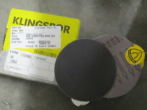 50 New Ea Klingspor 5 S c Cs333 120x Psa Stick it Sanding Abrasive Discs 43022