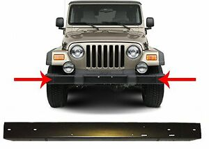 Replacement Black Steel Front Bumper For 1997 2006 Jeep Wrangler New Free Ship
