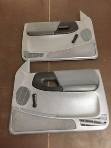 95 01 Ford Ranger Door Panels Light Gray Manual Set Oem