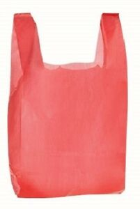 Red Plastic Bags 1000 Grocery Supermarket Store Merchandise 11 X 6 X 21 Bag