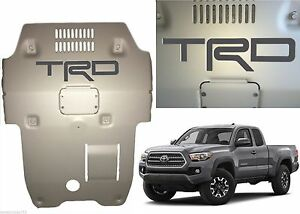 Magnetic Gray Premium Vinyl Trd Skid Plate Inserts For 2016 2017 Toyota Tacoma
