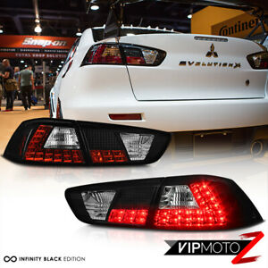 2008 2017 Mitsubishi Lancer Evolution Evo X 4b11 Gsr Mr Black Led Taillight Lamp