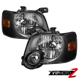 factory Style 2006 2010 Ford Explorer Xts Black Headlamps Replacement Lights