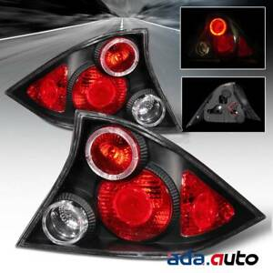 For 2001 2002 2003 Honda Civic 2dr Coupe Altezza Black Tail Lights Lamps G4