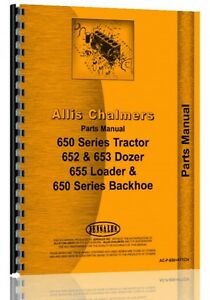 Allis Chalmers 650 655 Crawler Parts Manual