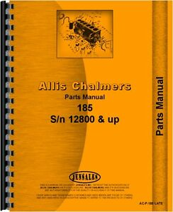 Allis Chalmers 185 Tractor Parts Manual sn 12800 And Up