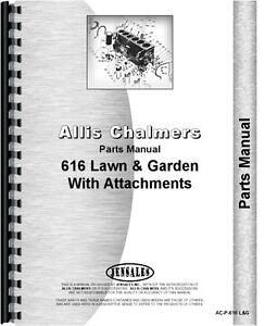 Allis Chalmers 616 Lawn Garden Tractor Parts Manual Ac p 616 L g