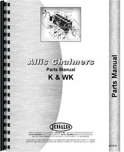 Allis Chalmers K Wk Crawler Parts Manual k Crawler 1946 Wk Crawler