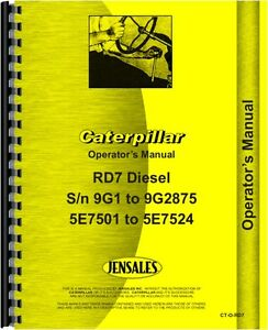 Caterpillar D7 D7e Crawler Parts Manual Sn 47a3396 47a5841