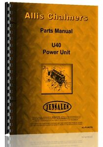 Allis Chalmers U40 Engine Parts Manual