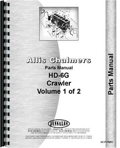 Allis Chalmers Hd6g Crawler Ts 6 Tractor Shovel Parts Manual ac p hd6g