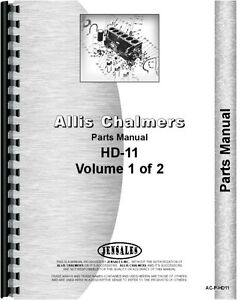 Allis Chalmers Hd11 Series Sn 0 12201 Crawler Parts Manual ac p hd11