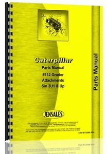 Caterpillar 112 Grader Parts Manual s n 3u1 Ct p 112grath